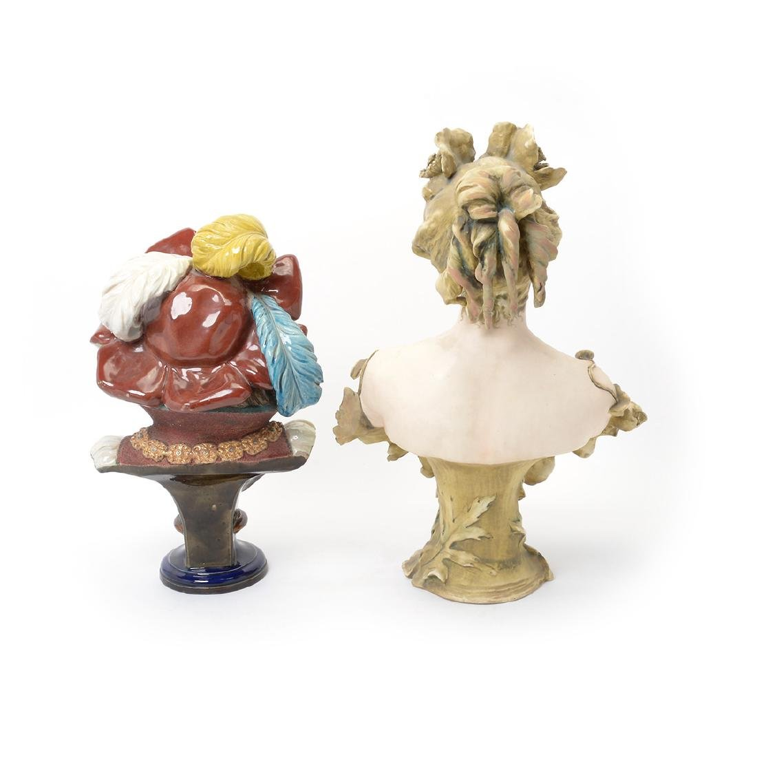 Austrian Art Nouveau Amphora Porcelain Bust of a Lady - 2