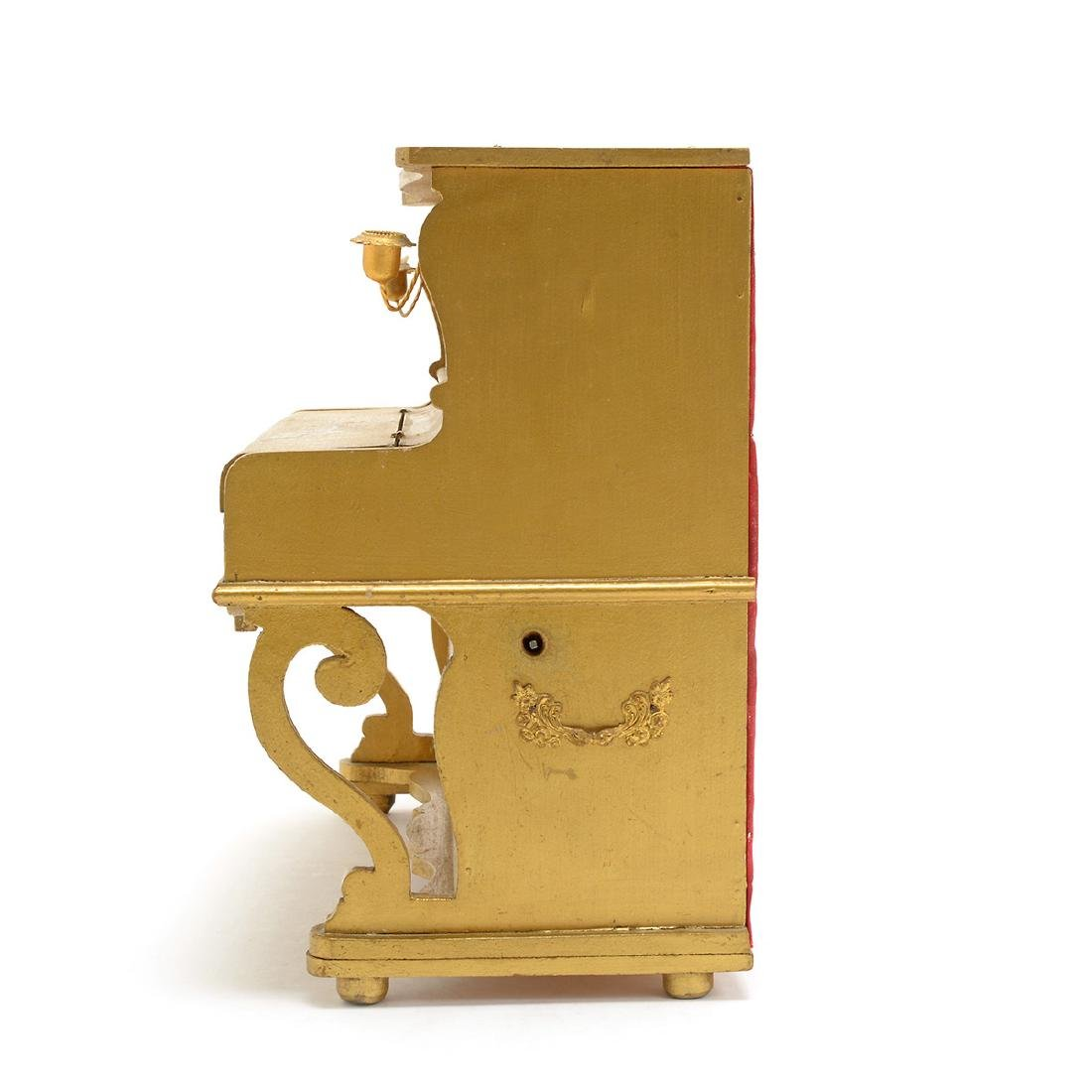 Swiss Gilt Vernis Martin Painted Miniature Piano - 10