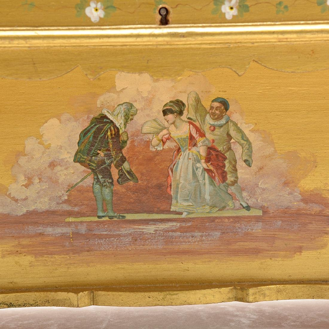 Swiss Gilt Vernis Martin Painted Miniature Piano - 5