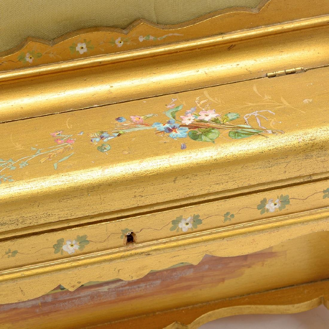 Swiss Gilt Vernis Martin Painted Miniature Piano - 6