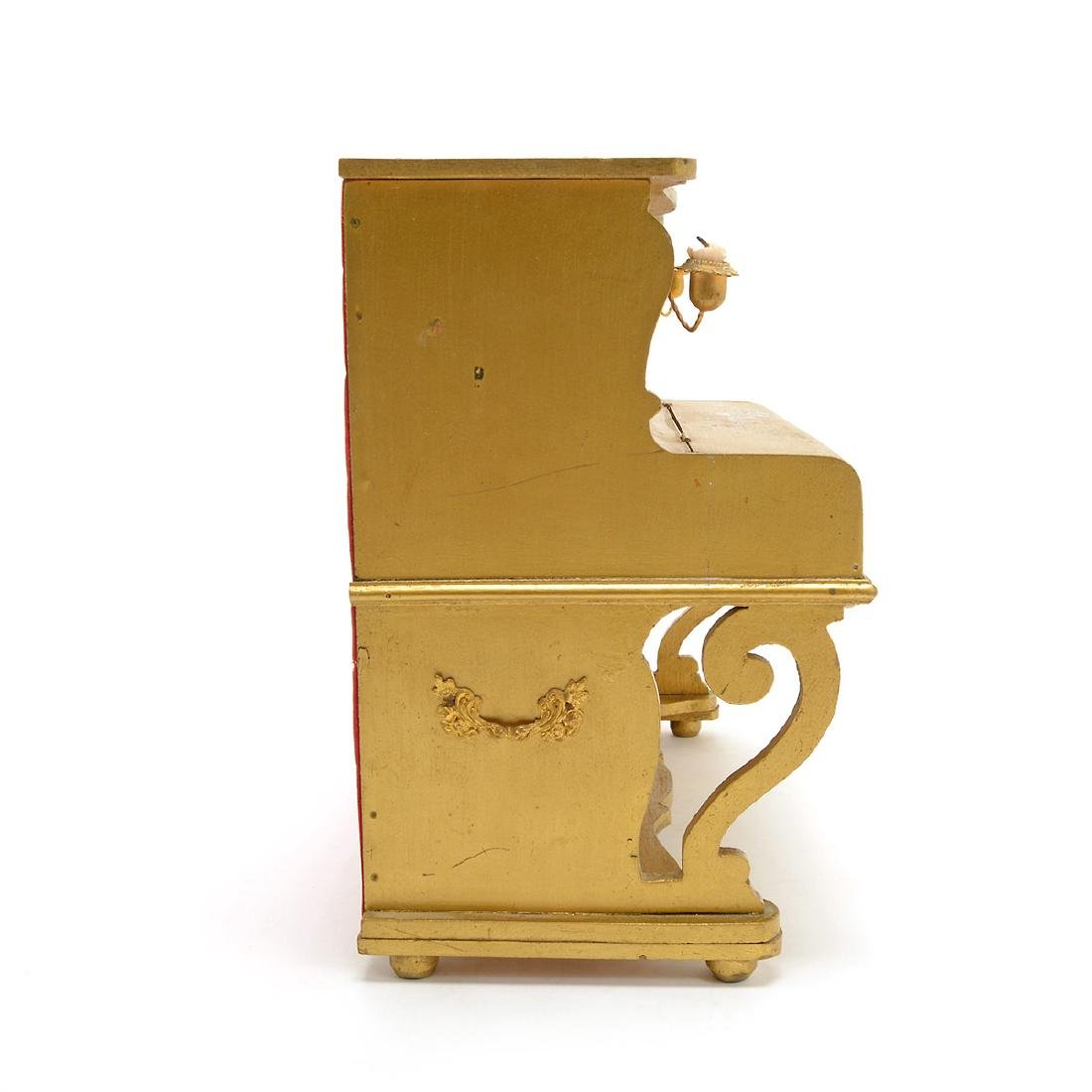 Swiss Gilt Vernis Martin Painted Miniature Piano - 8
