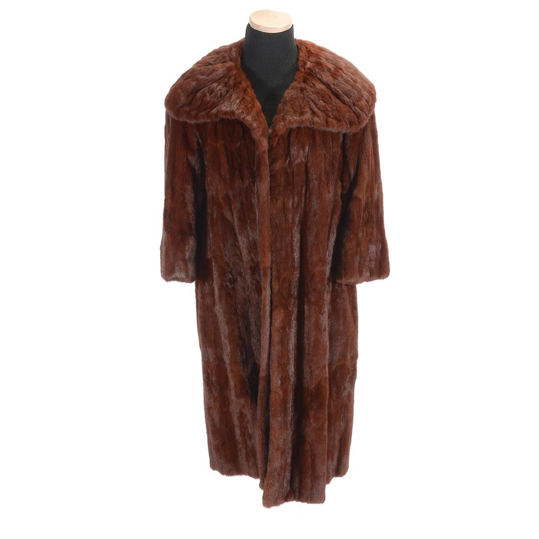 Full Length Sable Coat with Wide 'Lapel' Collar