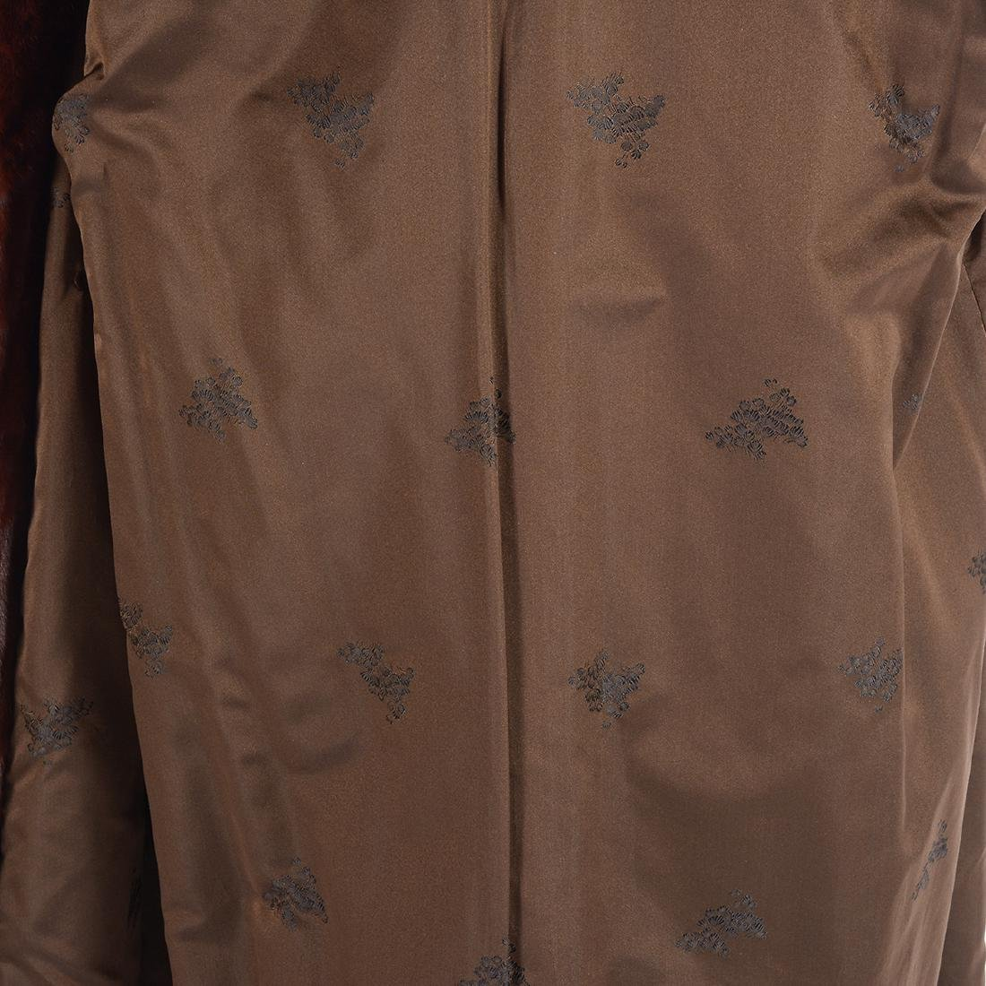 Full Length Sable Coat with Wide 'Lapel' Collar - 6