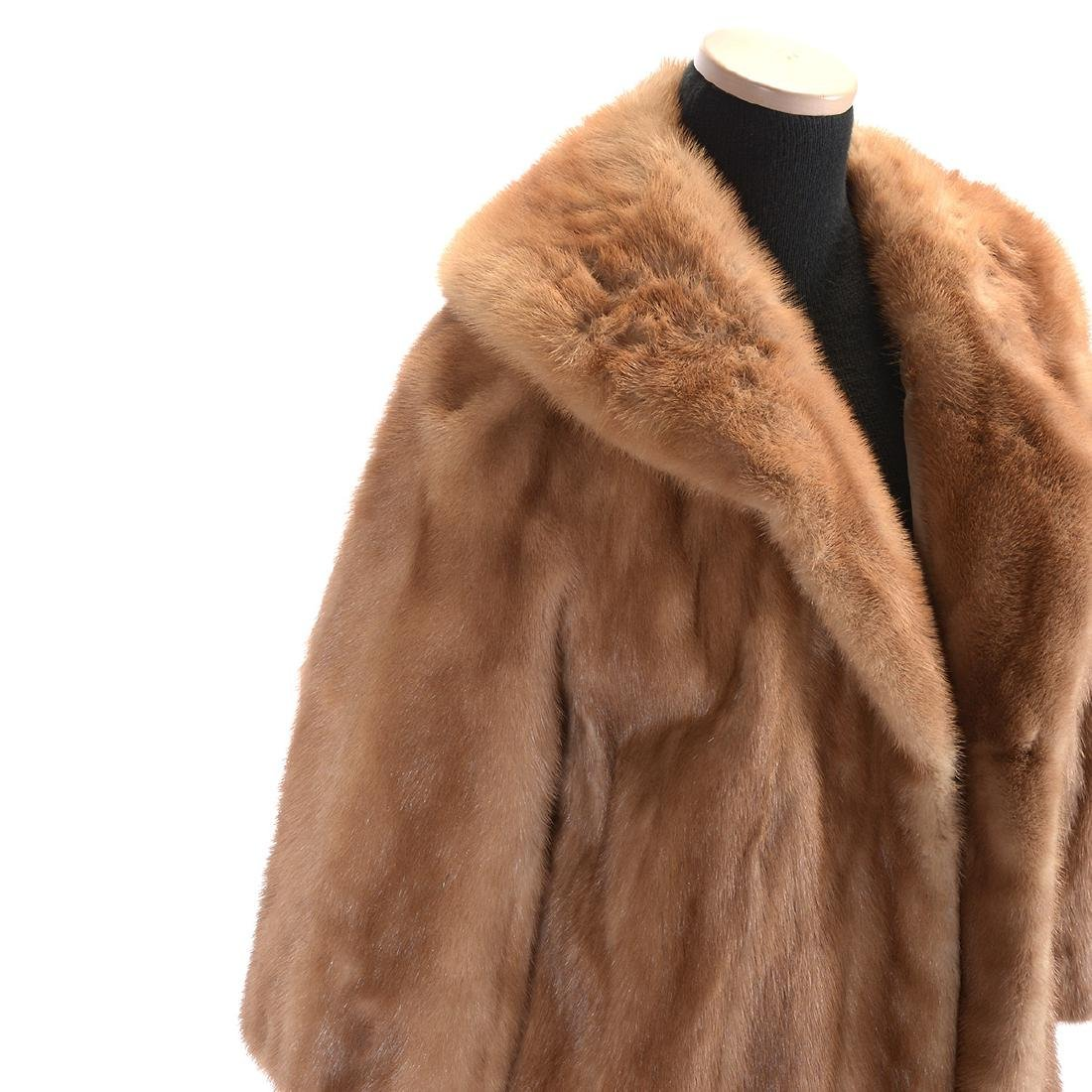 Brown Full-Length Mink Coat - 2