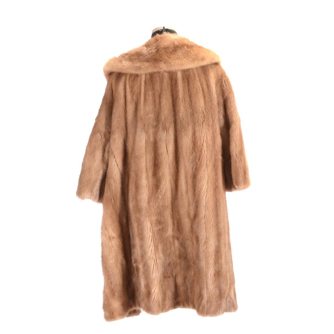 Brown Full-Length Mink Coat - 3