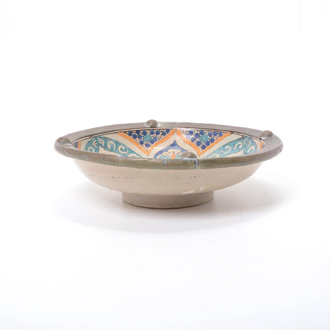 Copper Mounted Talavera Faience Bowl - 4