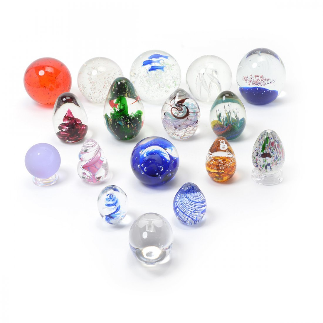 Collection of Art Glass Paperweights