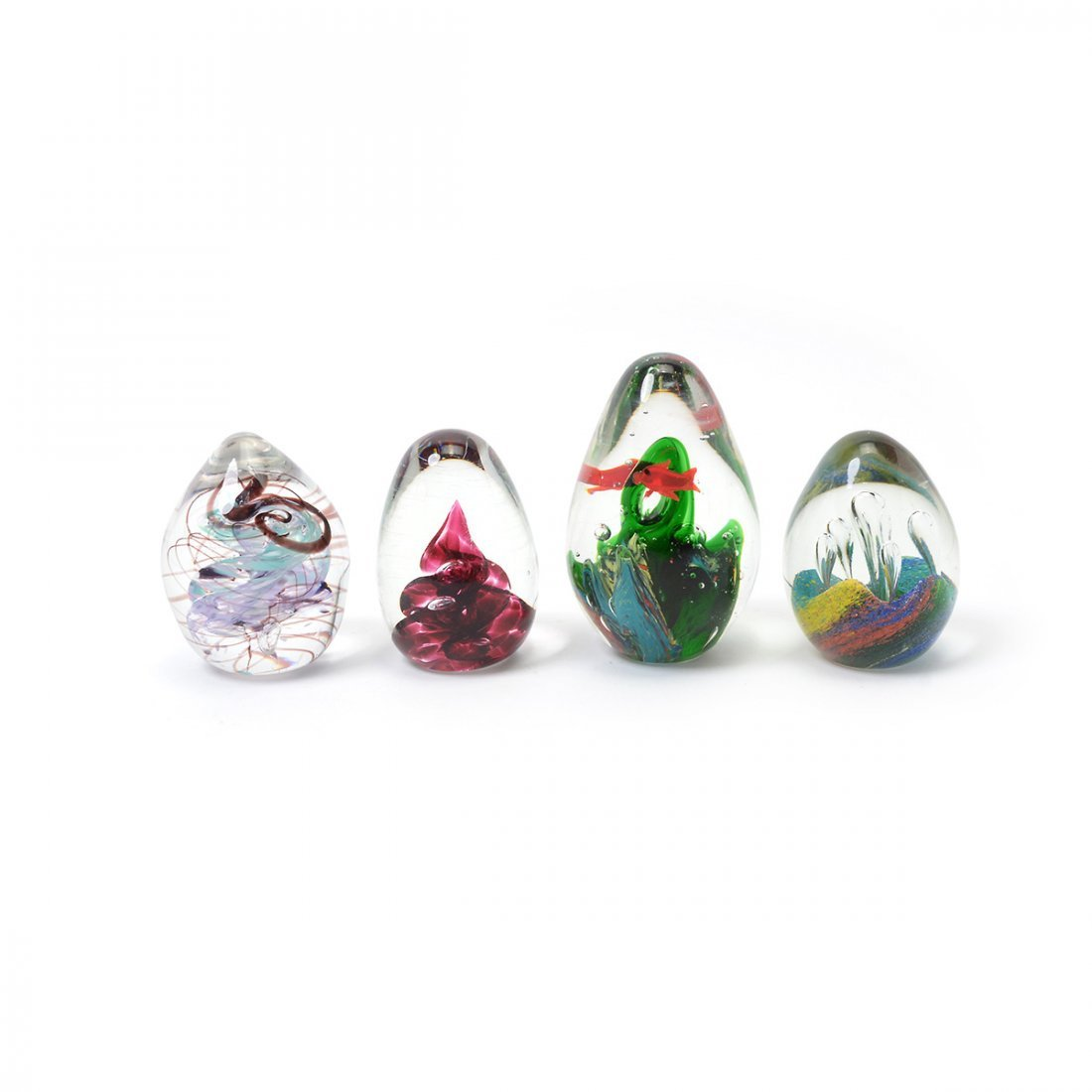 Collection of Art Glass Paperweights - 4