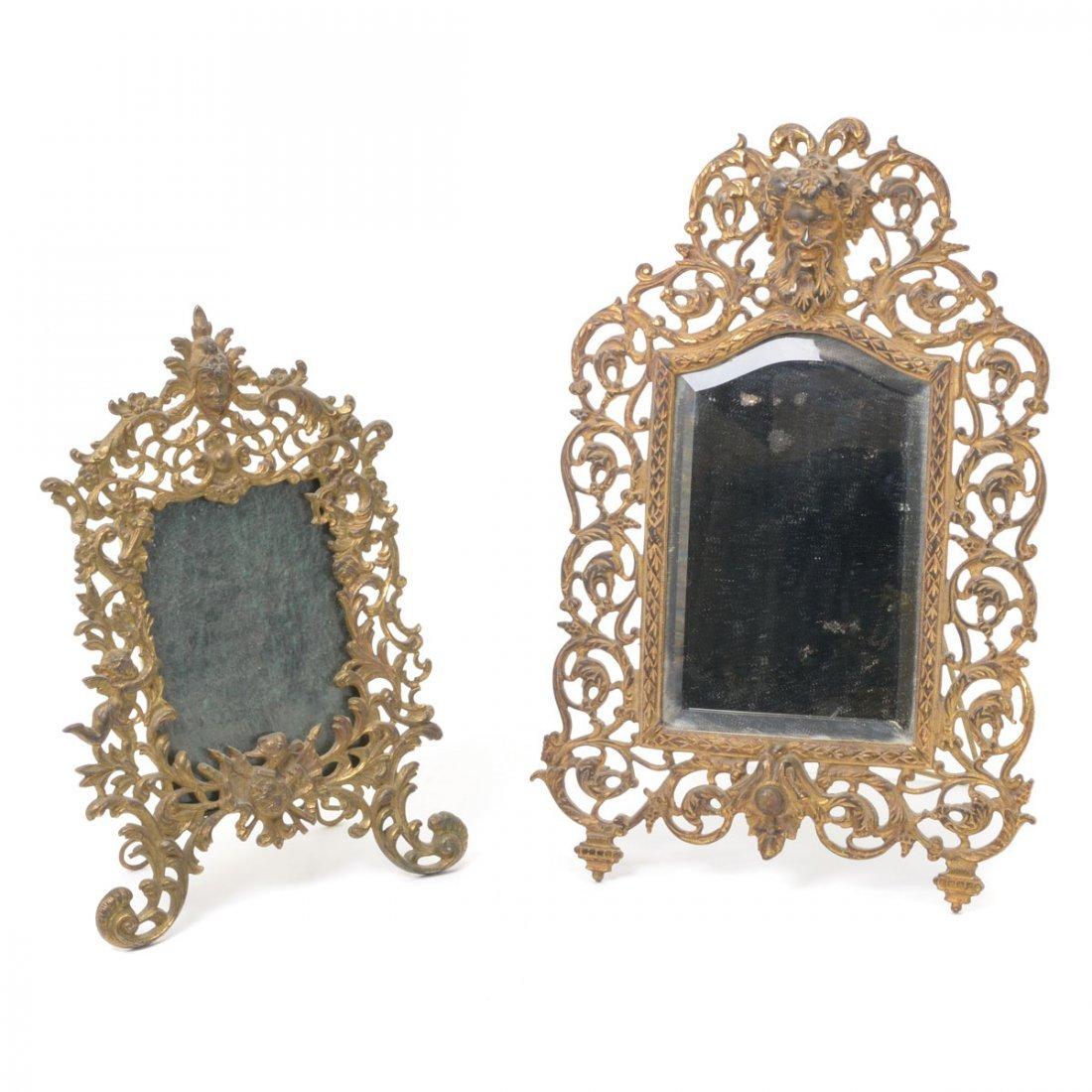 Bradley & Hubbard Renaissance Style Gilt Dresser Mirror