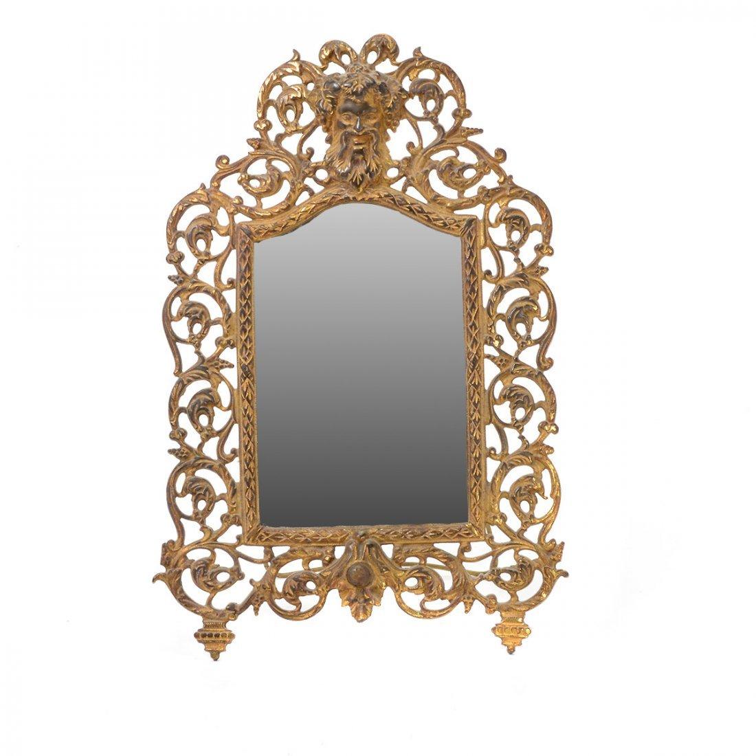Bradley & Hubbard Renaissance Style Gilt Dresser Mirror - 3