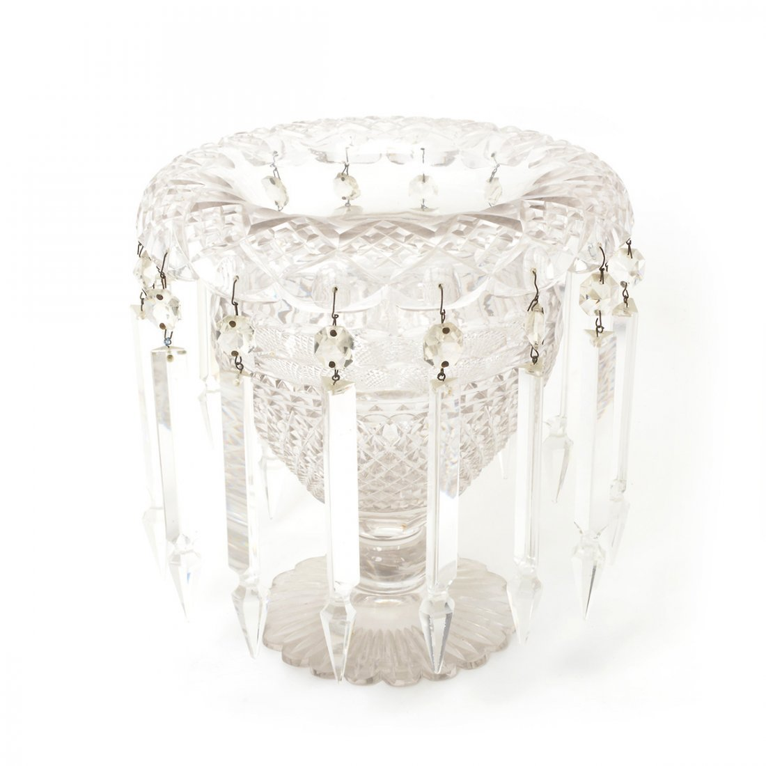 American Cut Glass Three Piece Table Garniture - 2