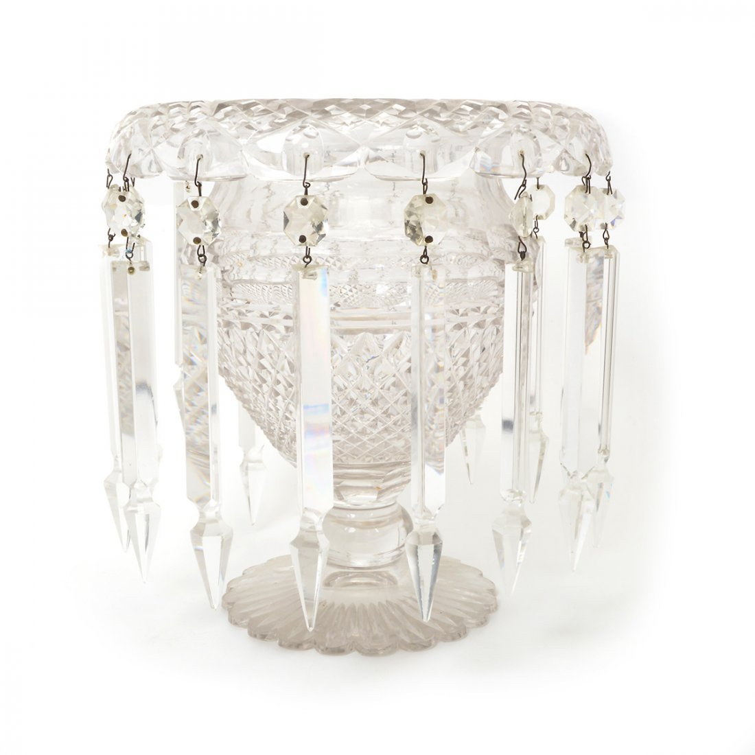 American Cut Glass Three Piece Table Garniture - 4