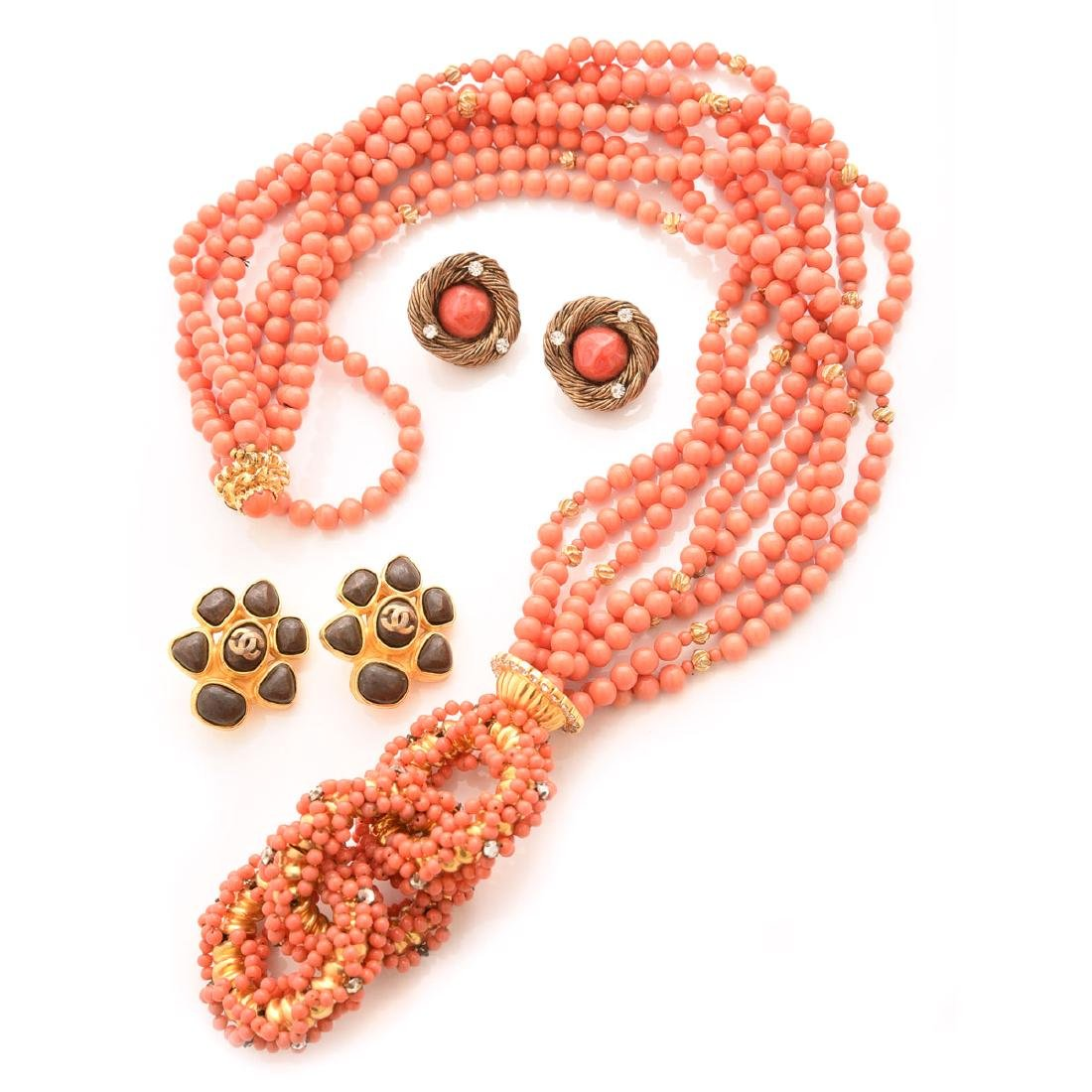 Collection of Vintage Costume Couture Jewelry.