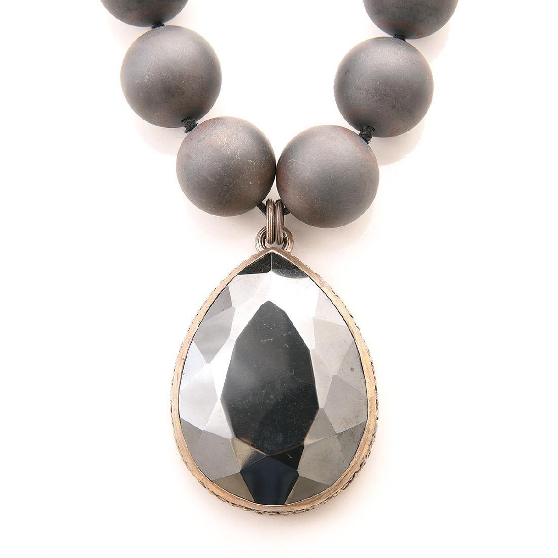 Stephen Dweck Hematite, Silver, Jewelry Suite. - 2