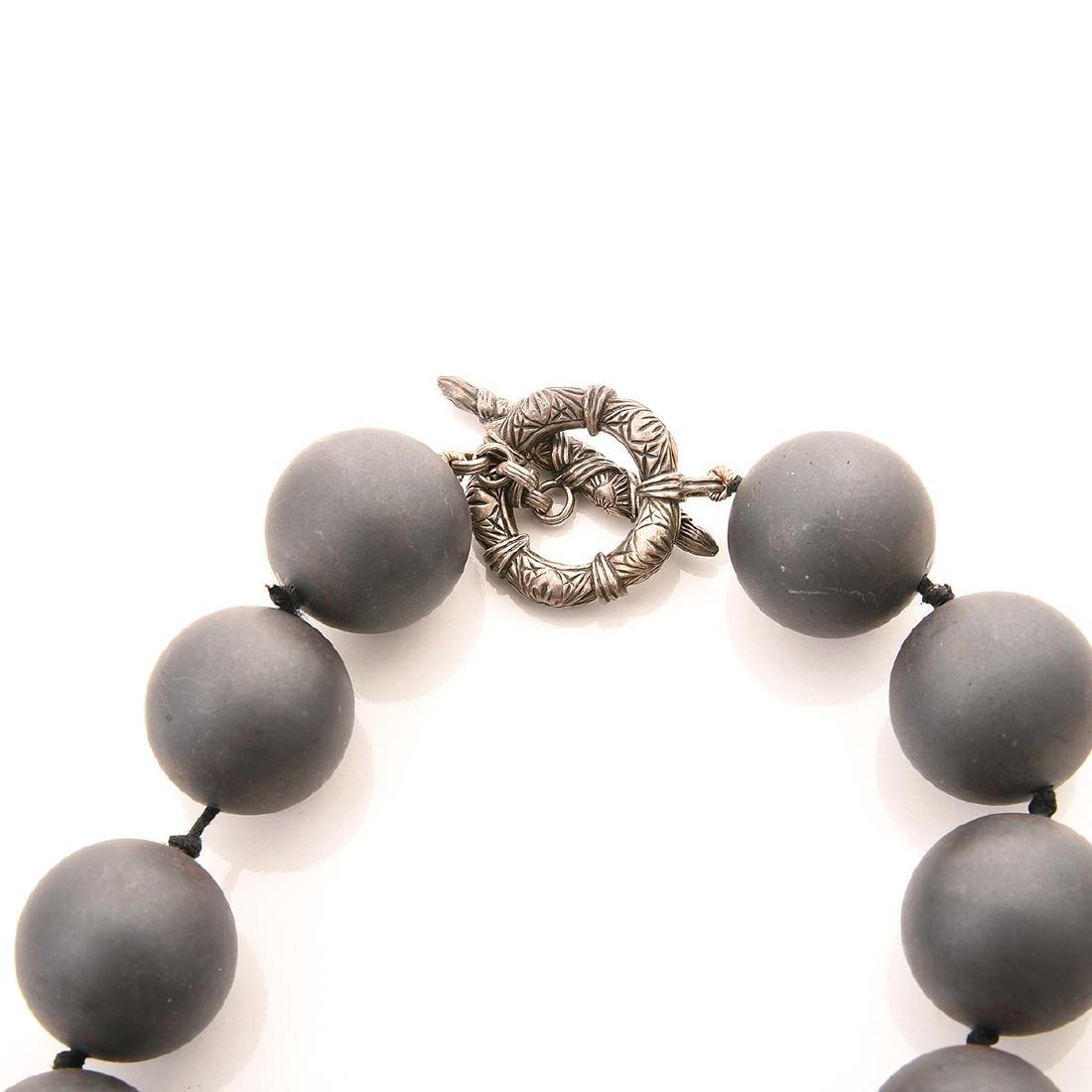 Stephen Dweck Hematite, Silver, Jewelry Suite. - 3