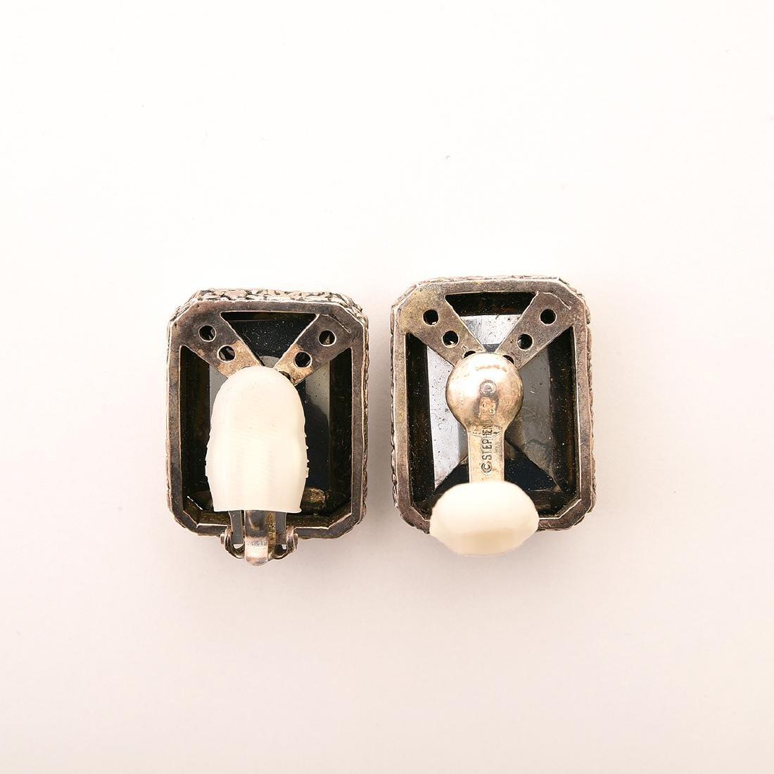 Stephen Dweck Hematite, Silver, Jewelry Suite. - 6