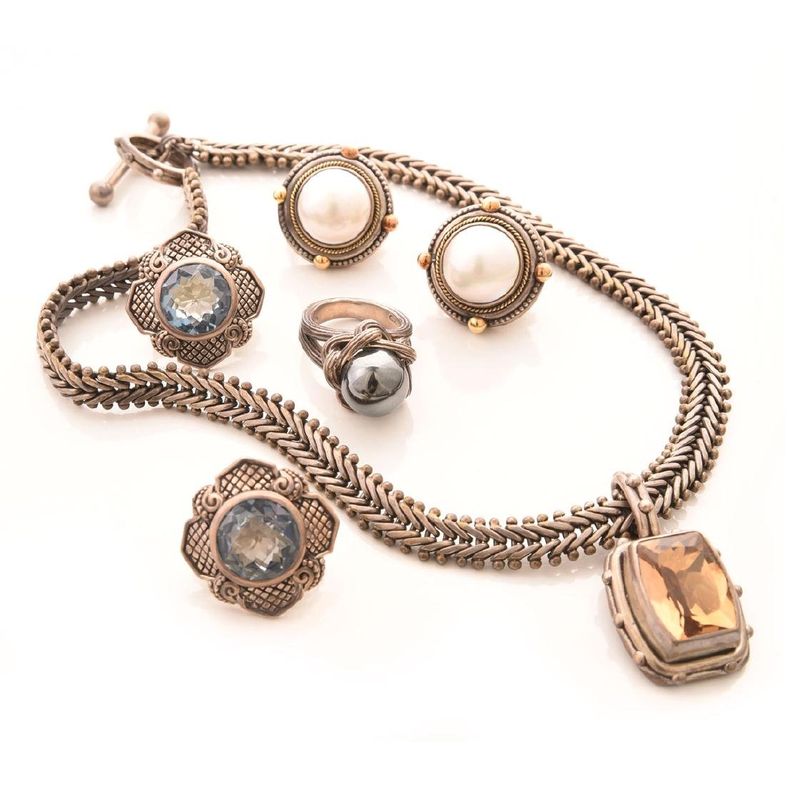 Collection of Stephen Dweck Jewelry.