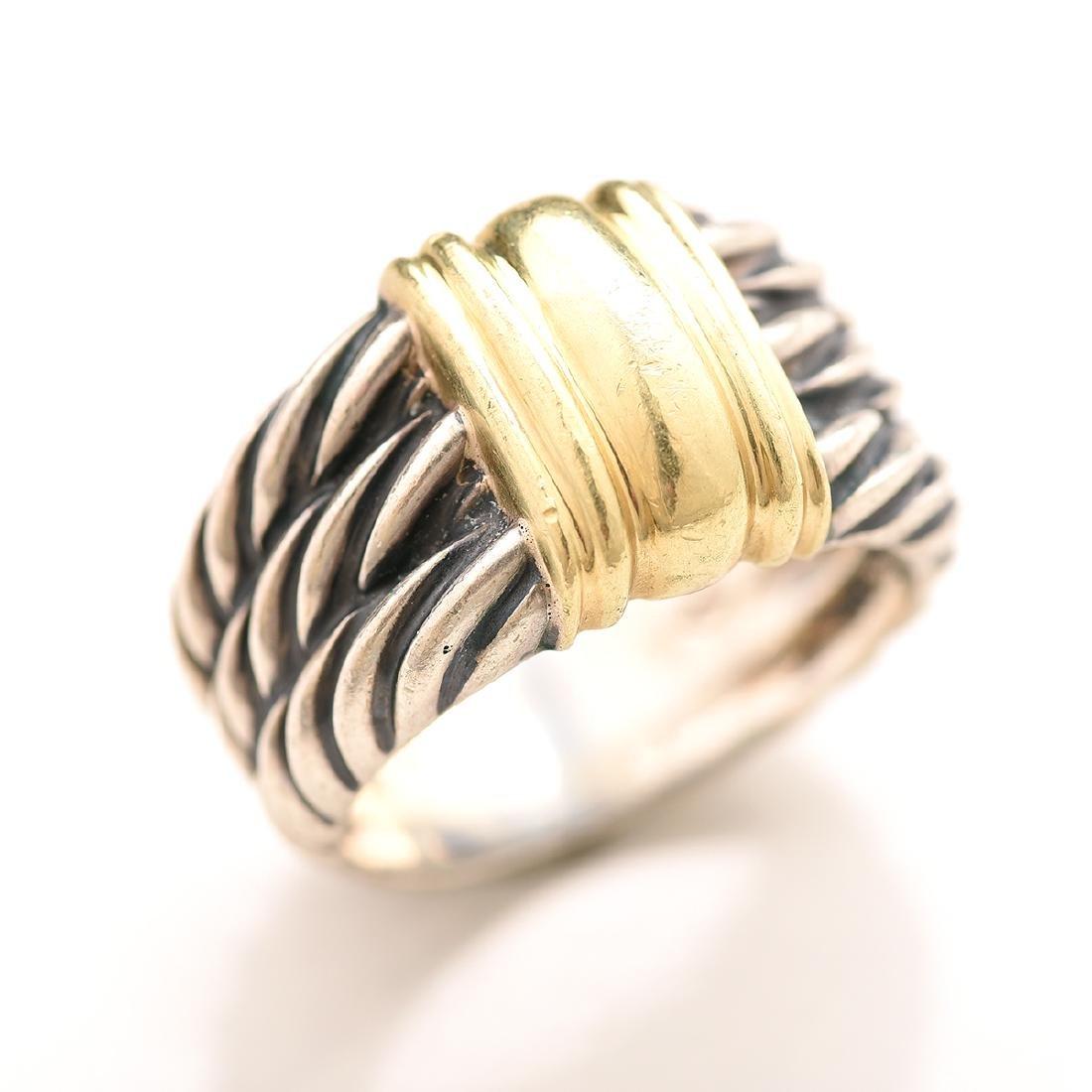 David Yurman, 14k Gold, Sterling Silver Jewelry Suite. - 2