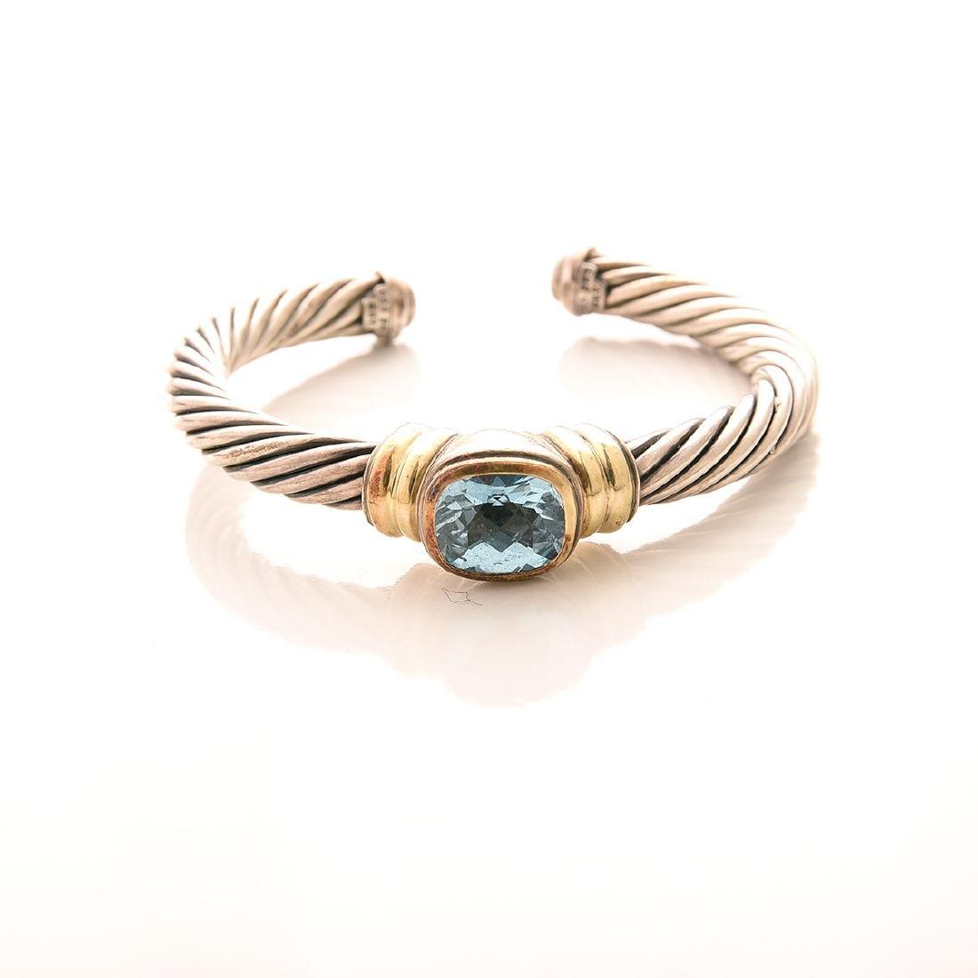 Collection of David Yurman 14k, Sterling Silver Cuff - 3