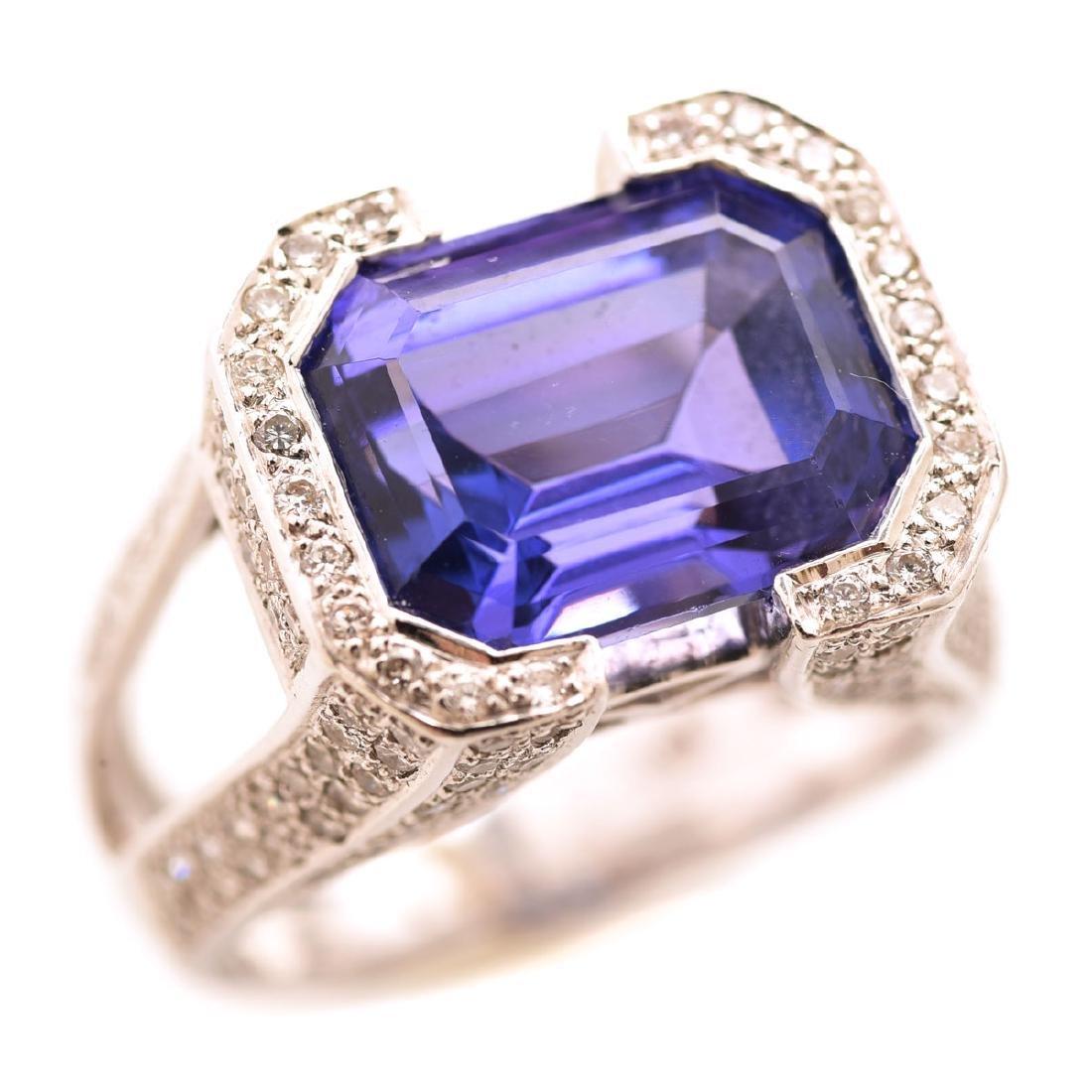 Tanzanite, Diamond, 18k Gold Ring.