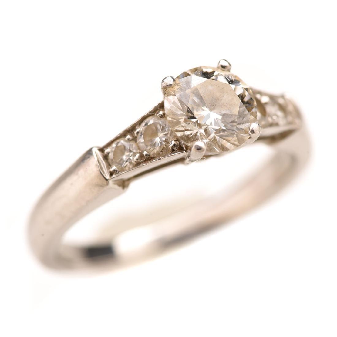 Diamond, Platinum, Ring.