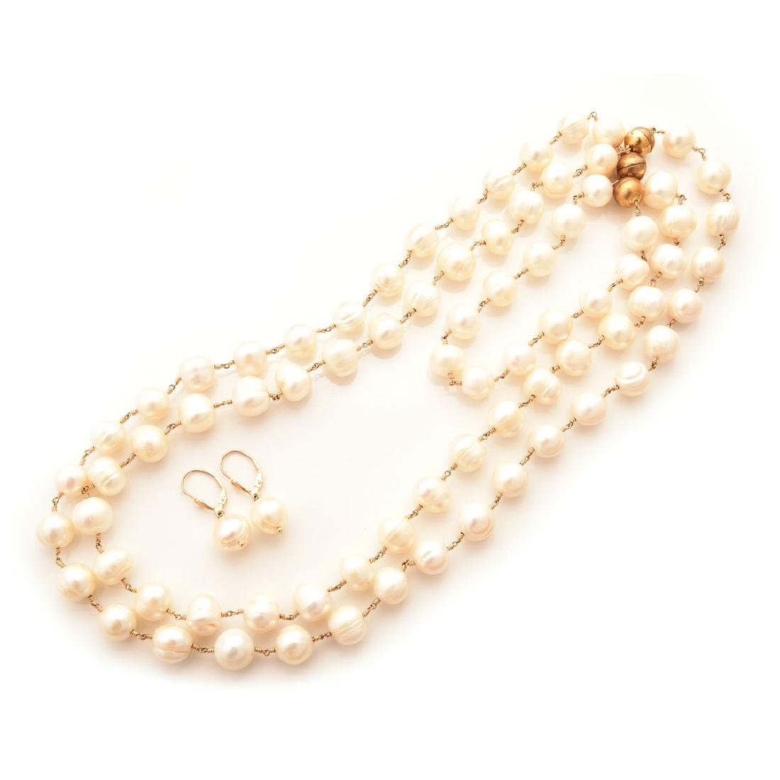 Freshwater Cultured Pearl, Jewelry Suite.