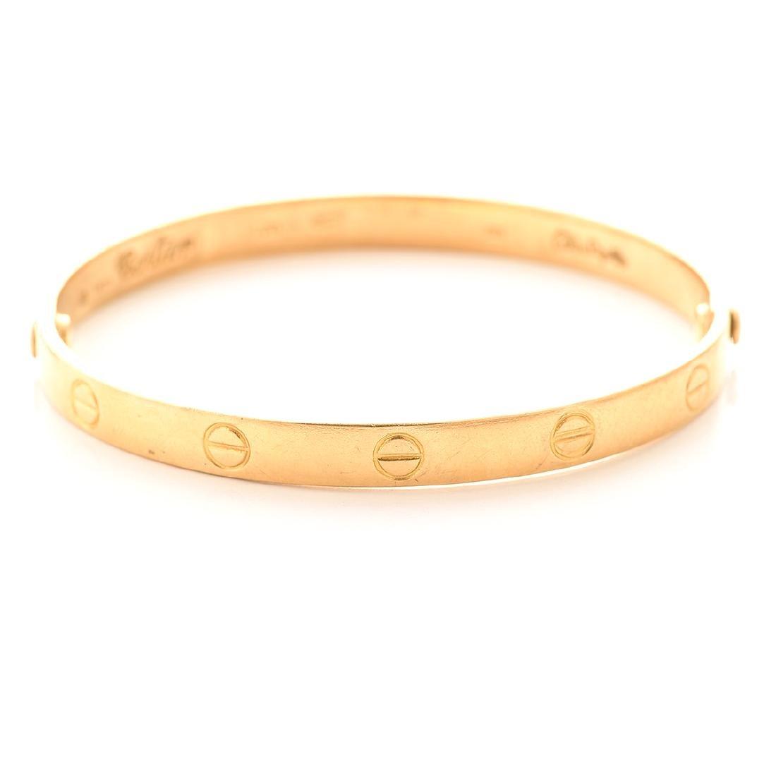 "Aldo Cipullo Cartier 18k Yellow Gold  ""Love"" Bracelet - 2"