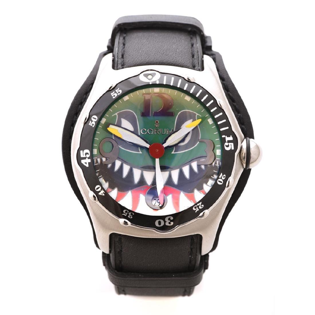 Corum, Stainless Steel, Bubble Wristwatch.