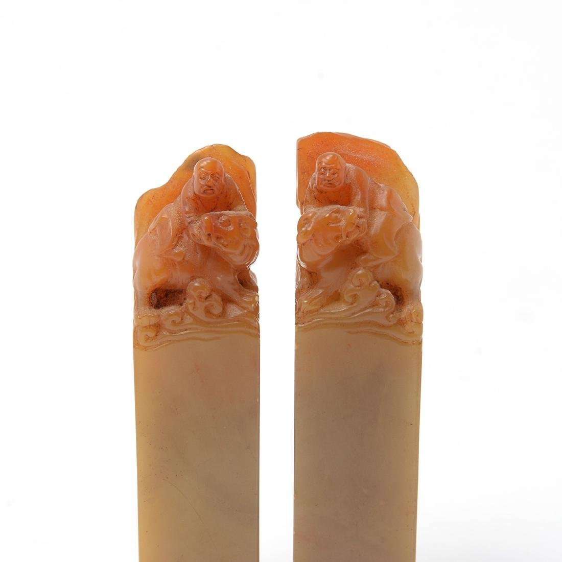 Pair of Soapstone Seals, Qing Dynasty - 2
