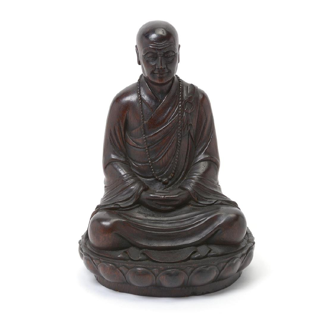 Wood Figure of a Monk