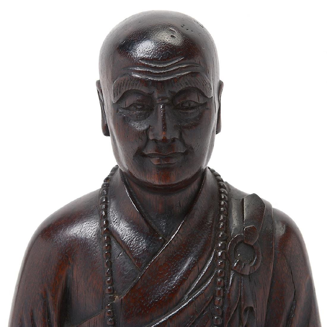 Wood Figure of a Monk - 2