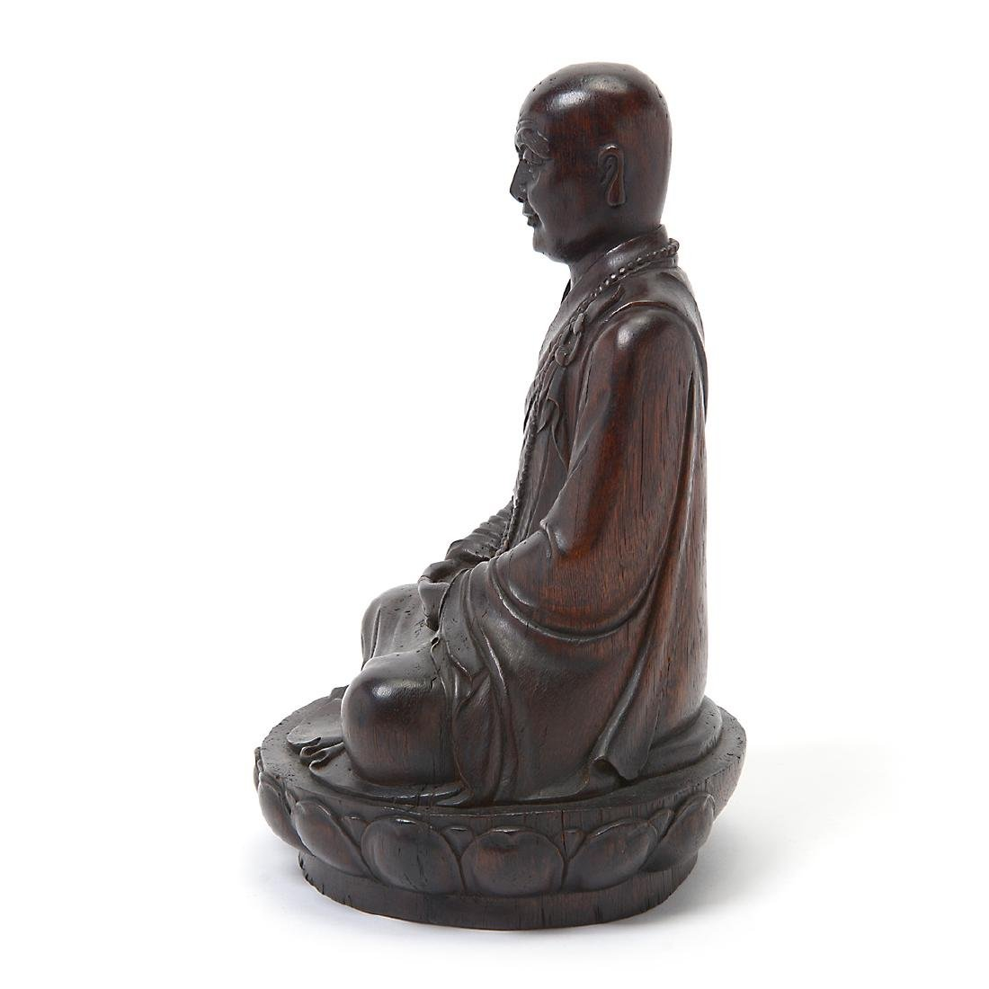 Wood Figure of a Monk - 4