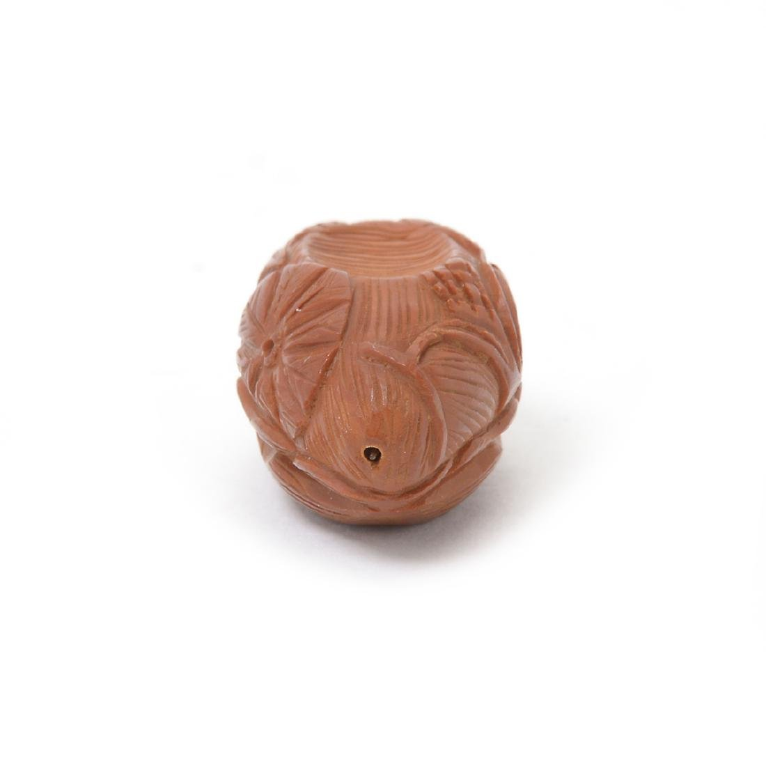 Two Carved Olive Seeds - 4
