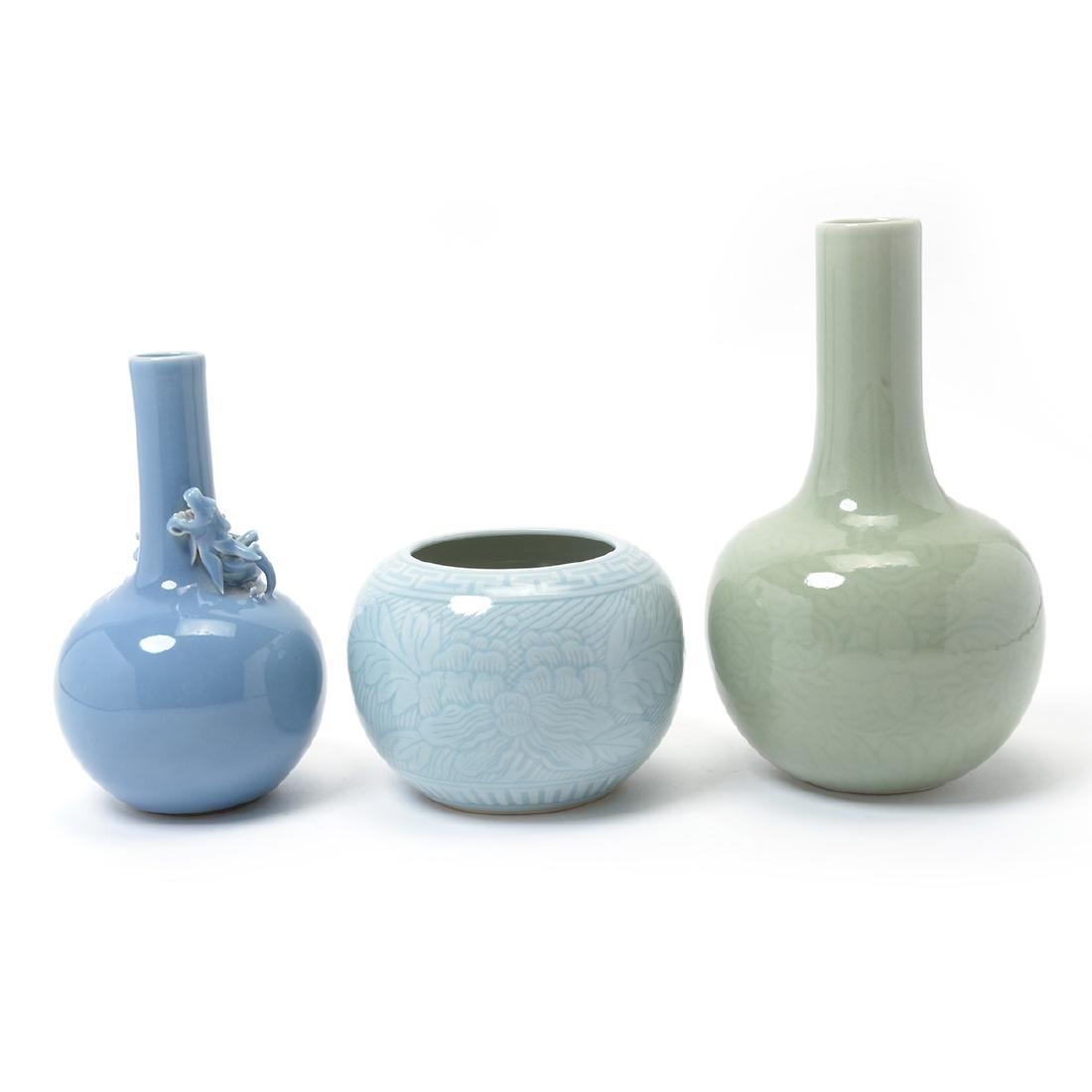 Three Glazed Porcelains