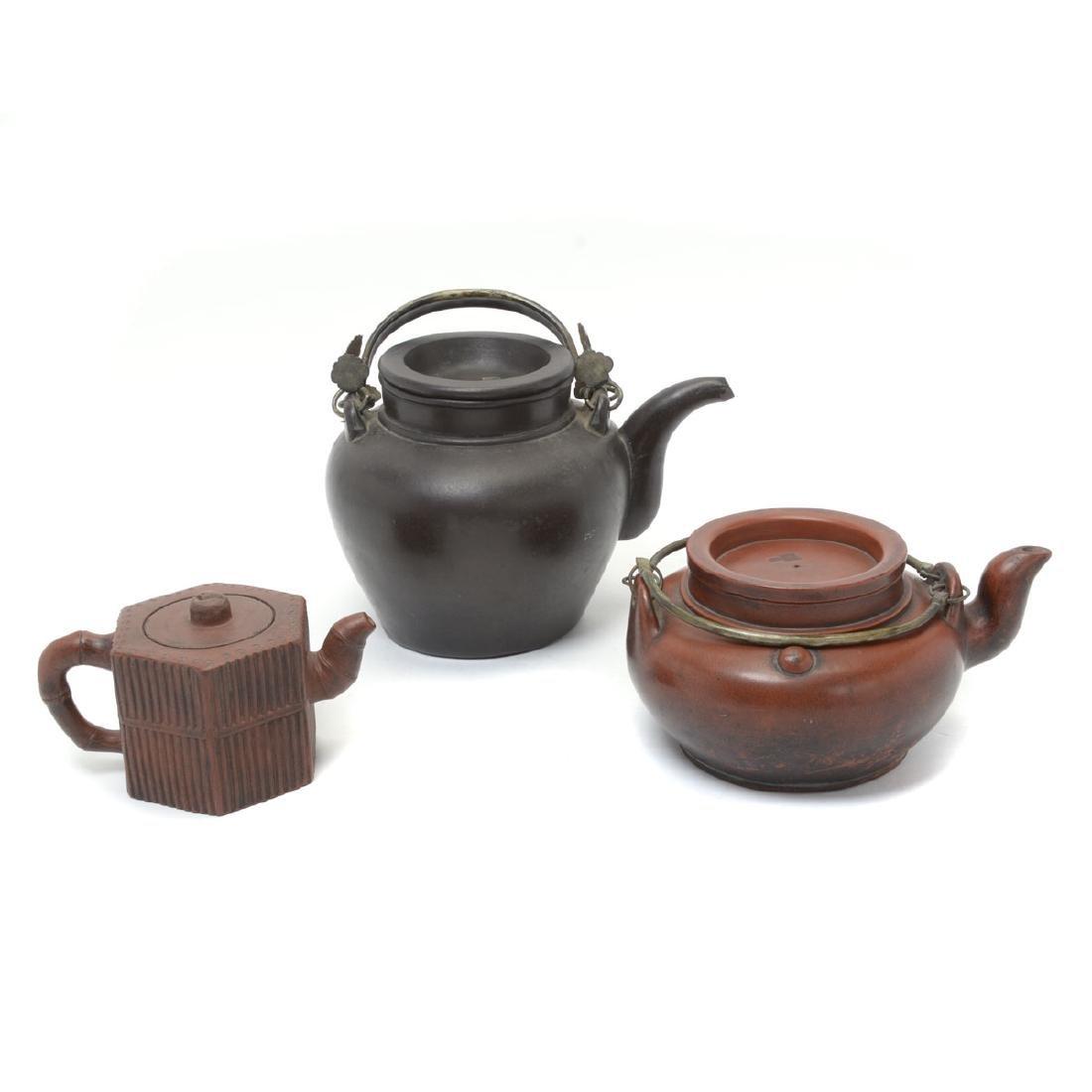 Three Yixing Teapots, Republic Period
