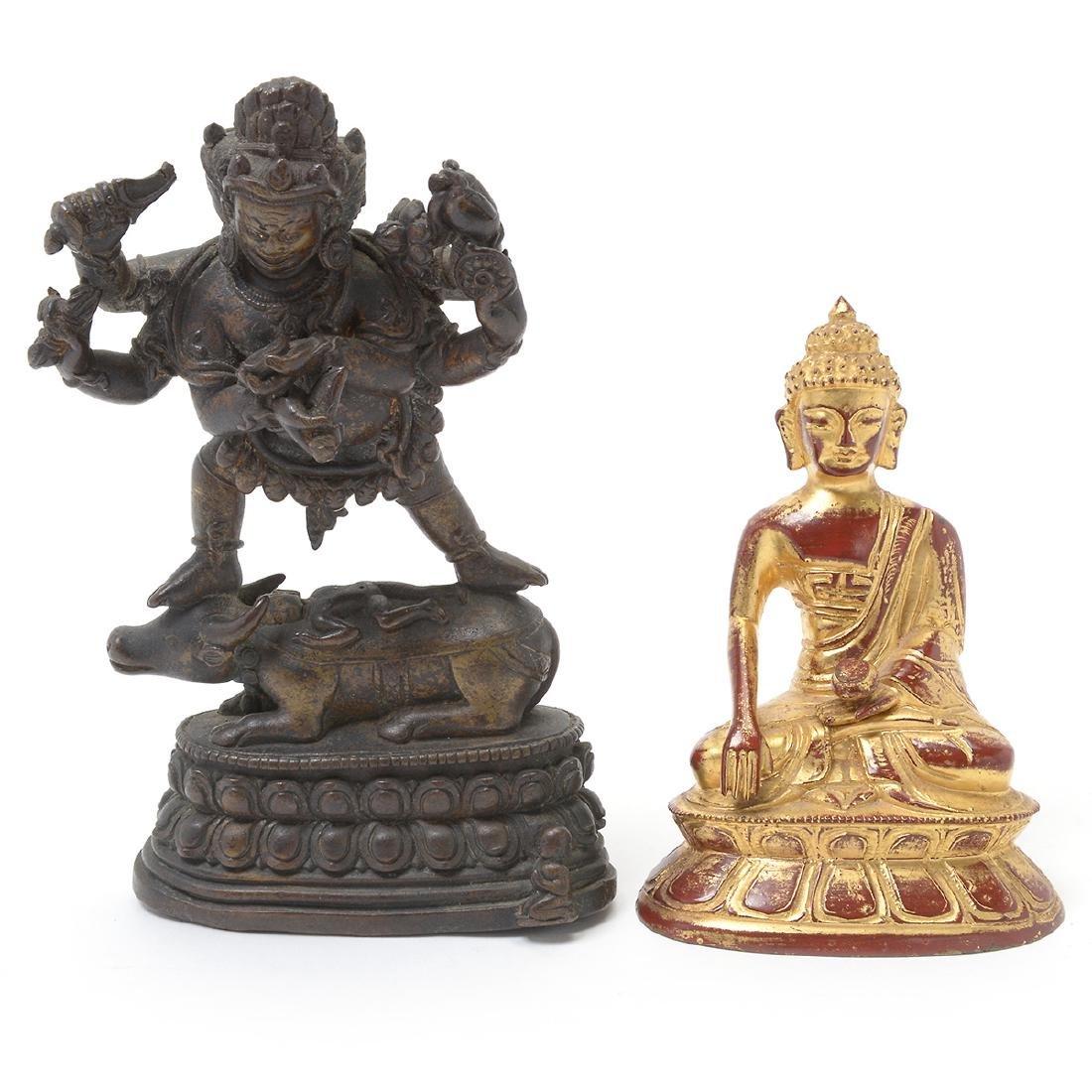 Two Bronze Buddhist Figures, 17th/18th Century