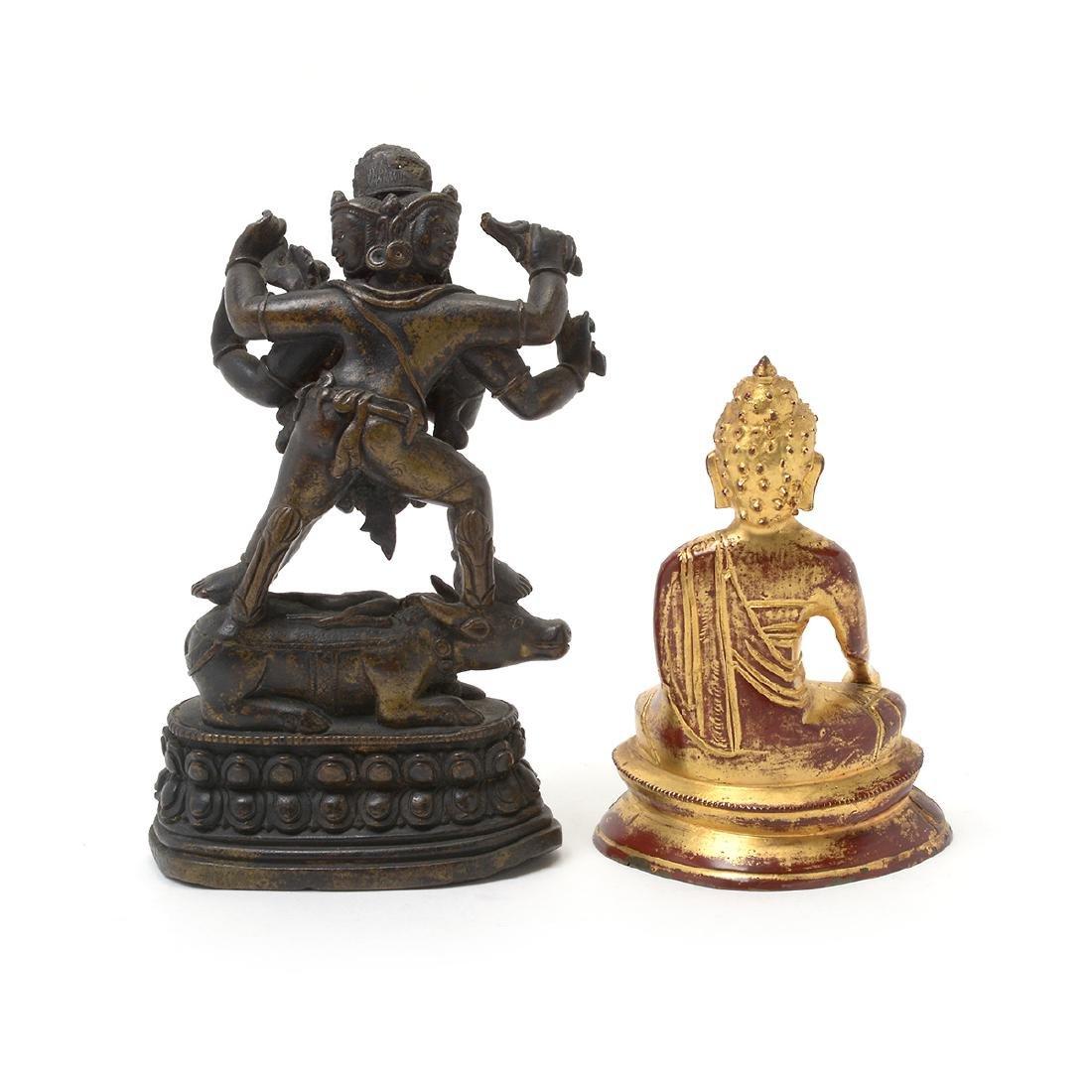 Two Bronze Buddhist Figures, 17th/18th Century - 4