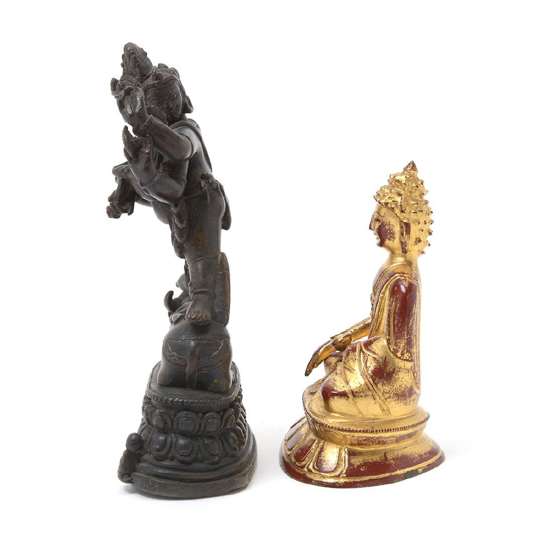 Two Bronze Buddhist Figures, 17th/18th Century - 6