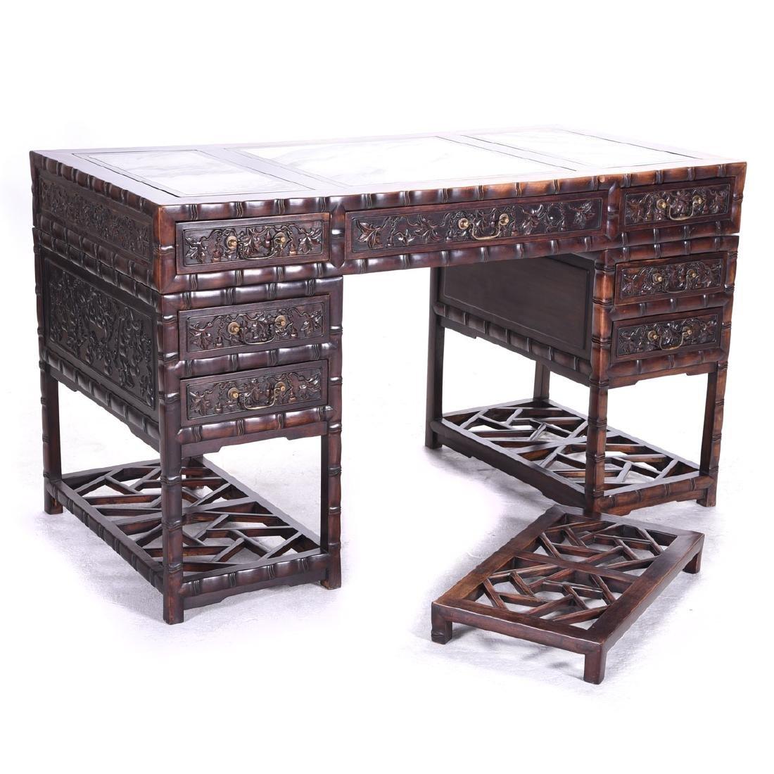 Carved Rosewood Desk*
