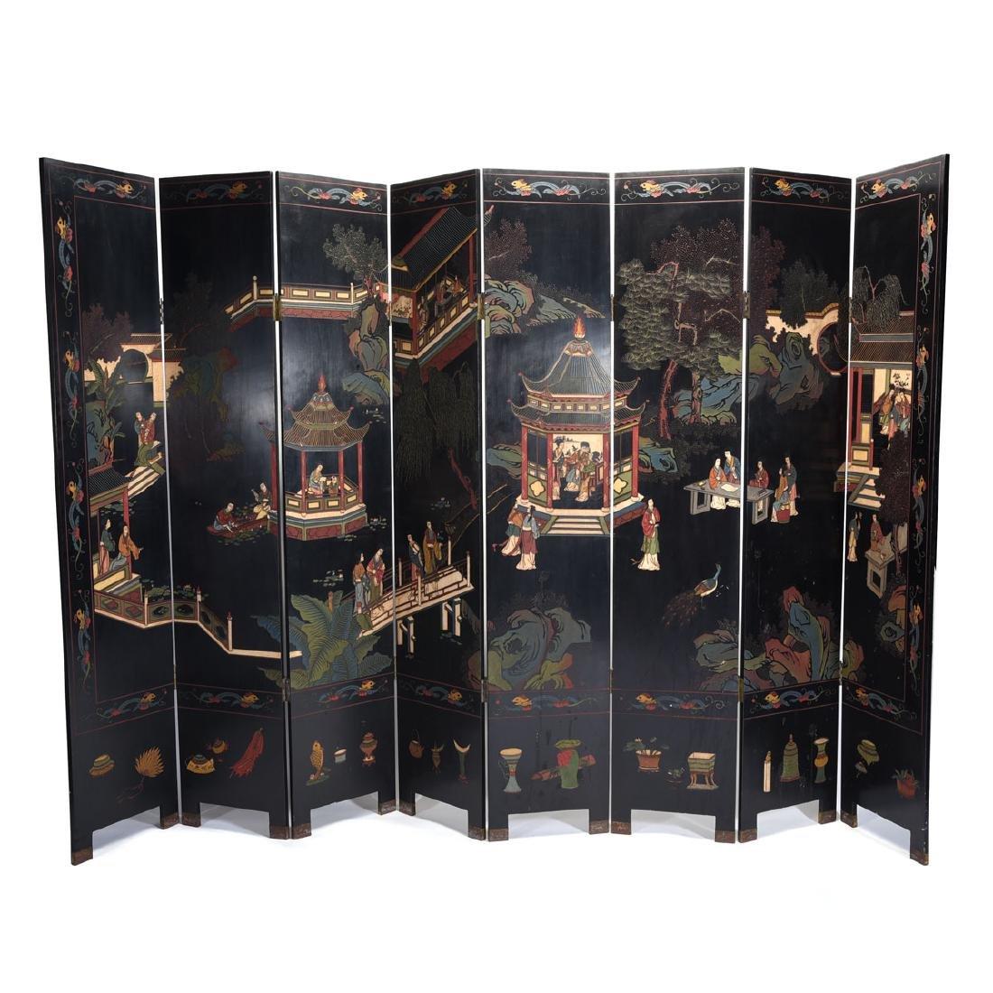 Eight Panel Coromandel Screen