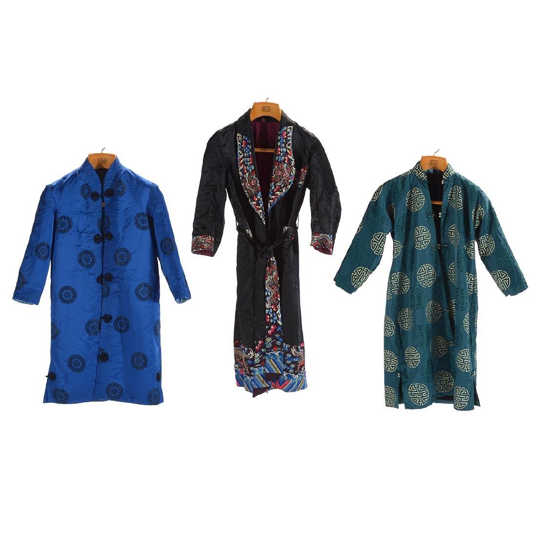Three Silk-Lined Fur Coats