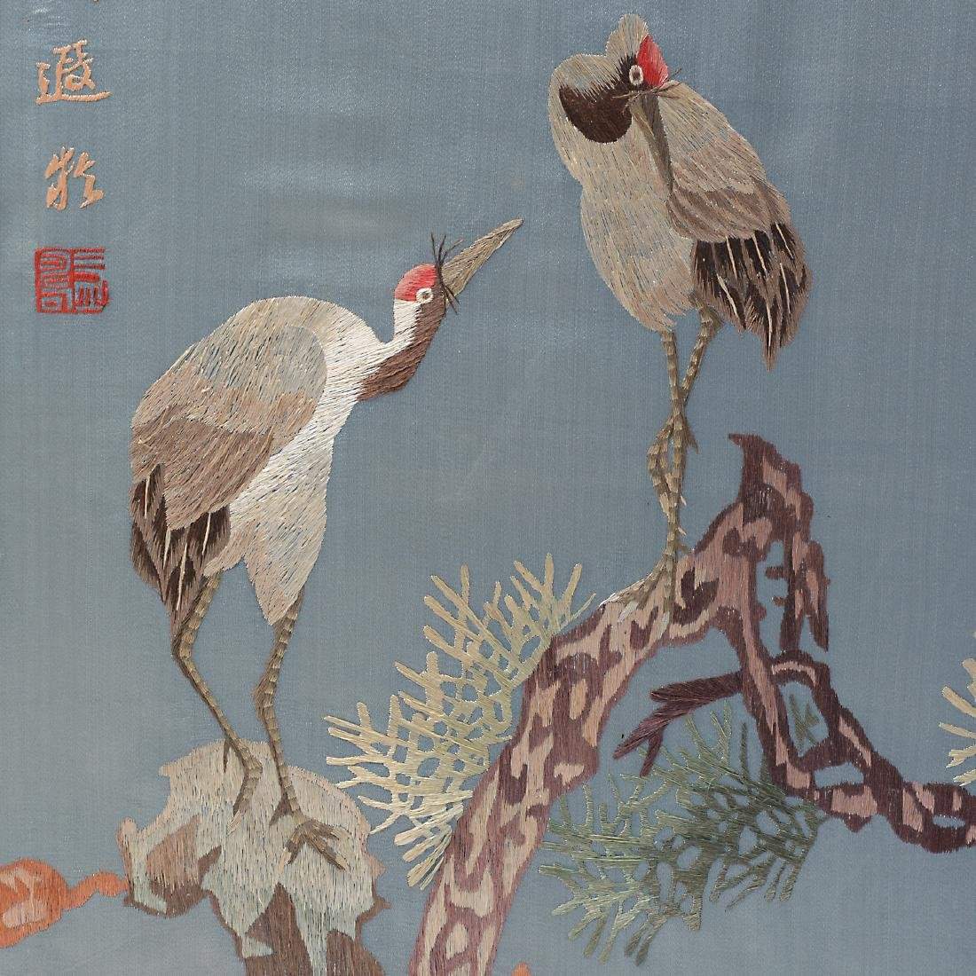 Six Embroidered Wall Panels - 3