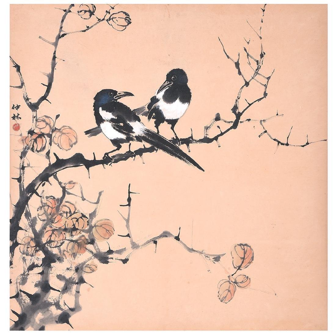Yu Zhonglin (1925-1985): Magpies
