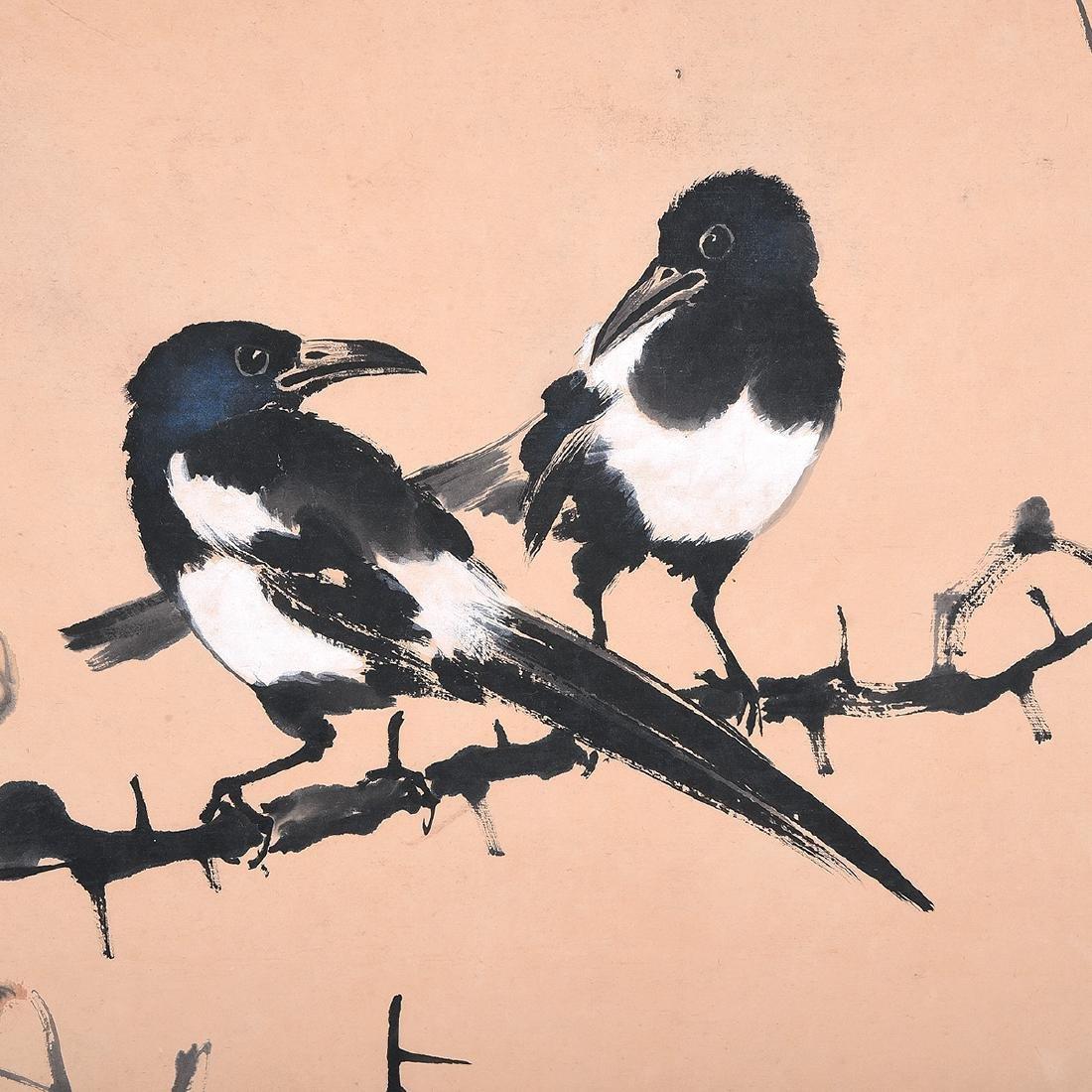 Yu Zhonglin (1925-1985): Magpies - 3