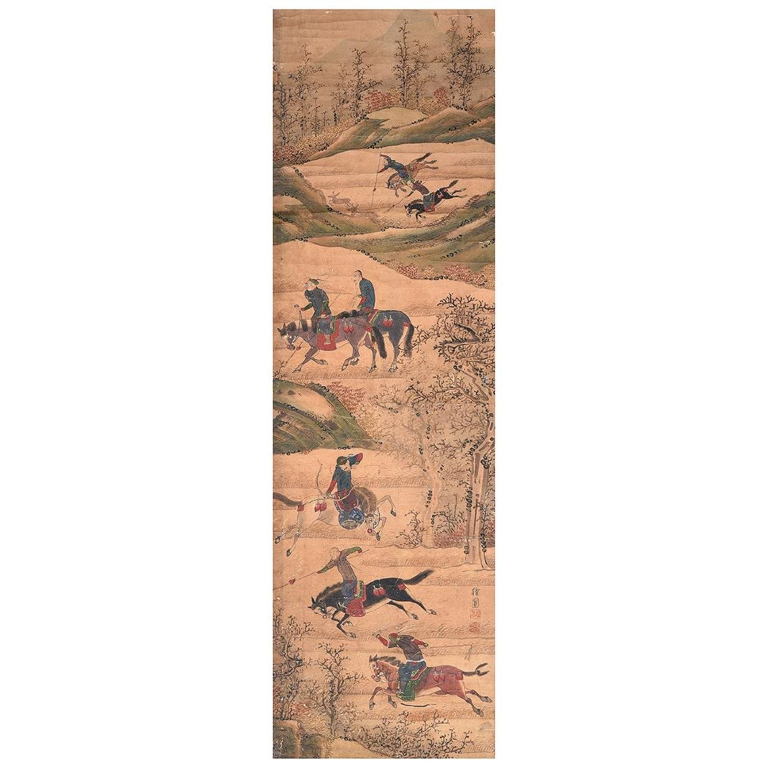 Korean School: Hunting Scene