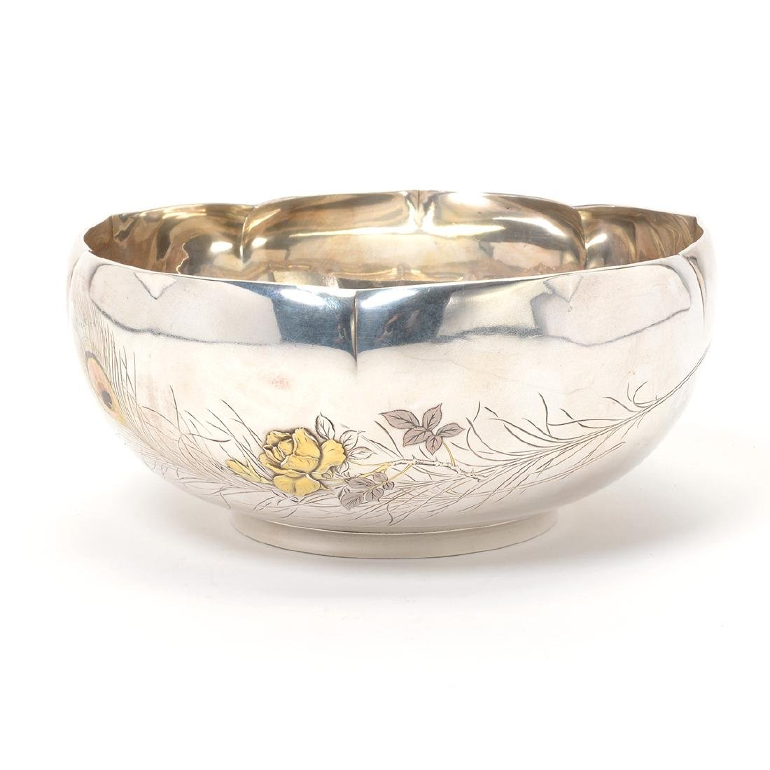 Japanese Silver Punch Bowl, Meiji Period