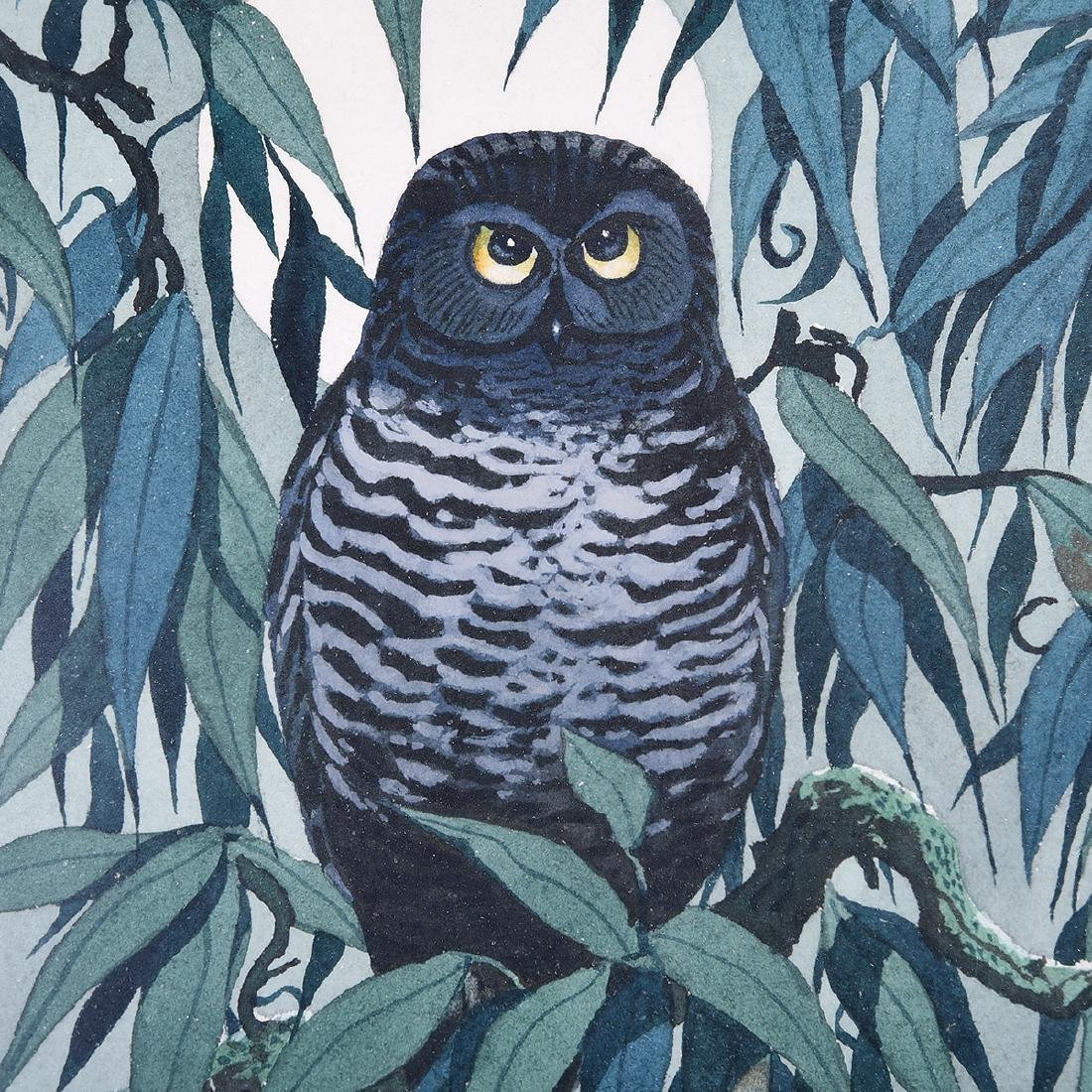 "James March Phillips ""Little Owl in a Willow Tree"", & - 3"