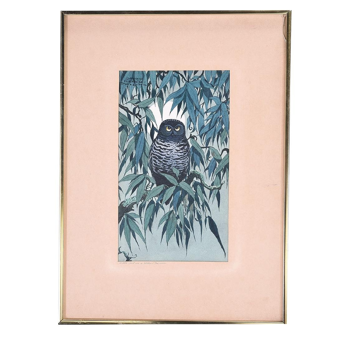 "James March Phillips ""Little Owl in a Willow Tree"", & - 4"
