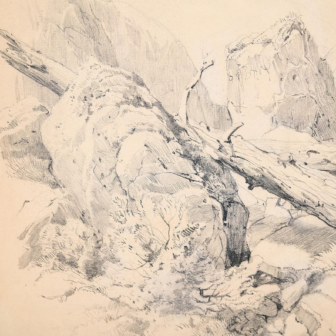 "Louis Eilshemius ""No. 12 Loch Calame"" pencil on paper - 4"
