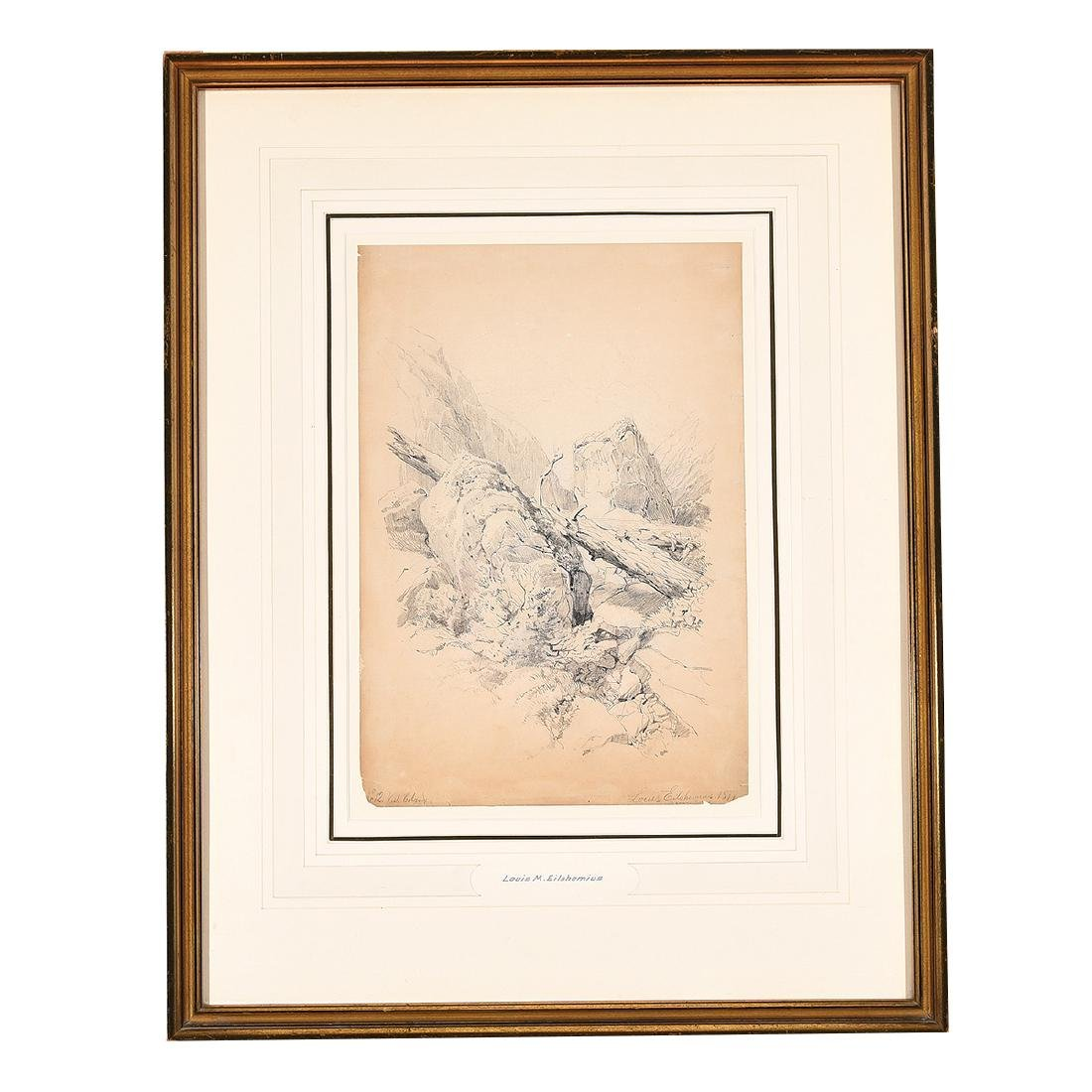 "Louis Eilshemius ""No. 12 Loch Calame"" pencil on paper - 5"